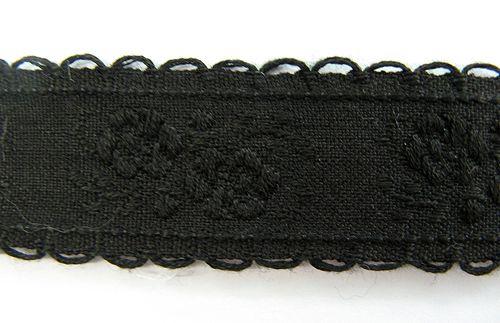 Baumwollborde, schwarz 2cm breit
