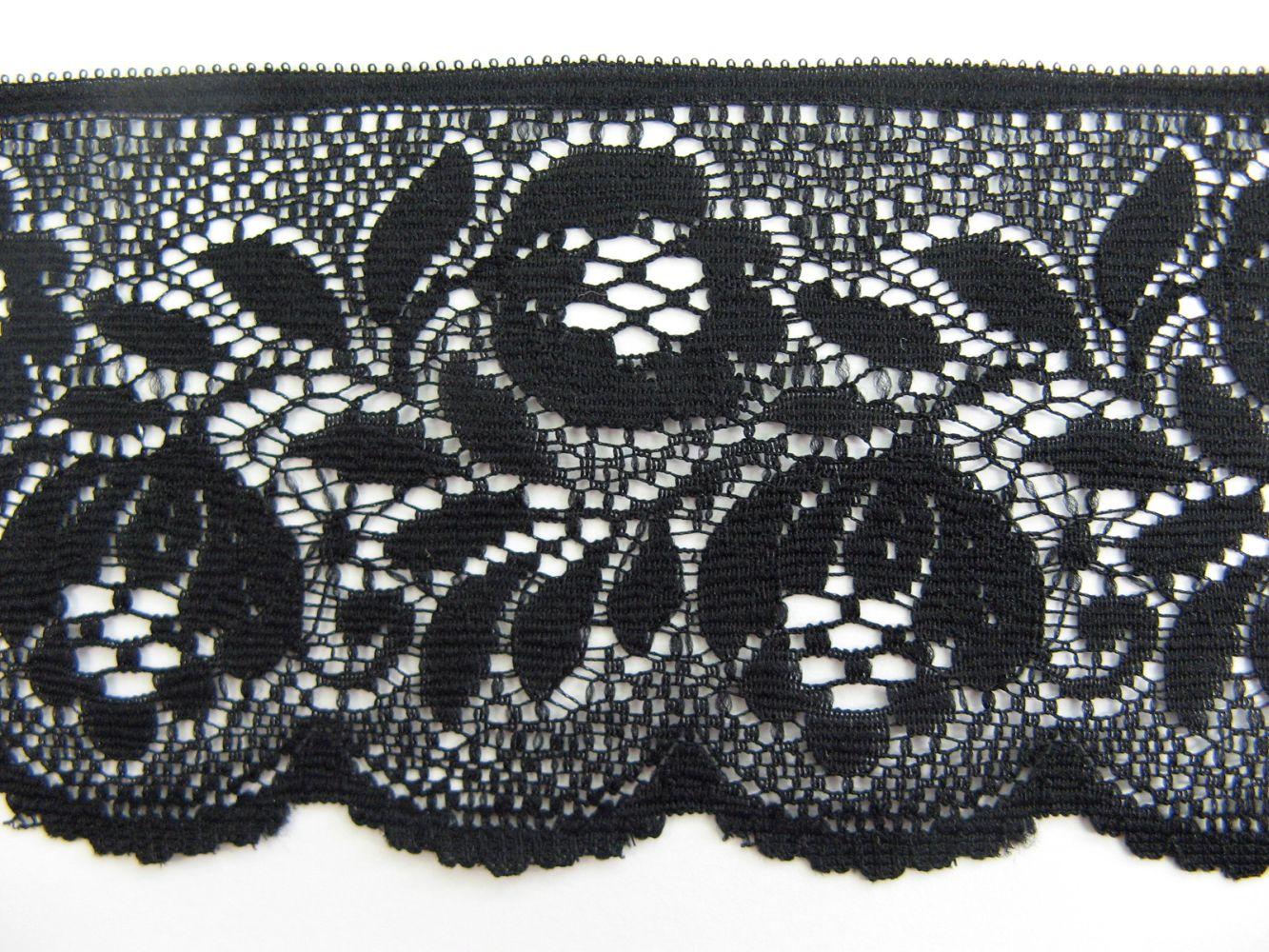 Spitze, schwarz, 6 cm breit