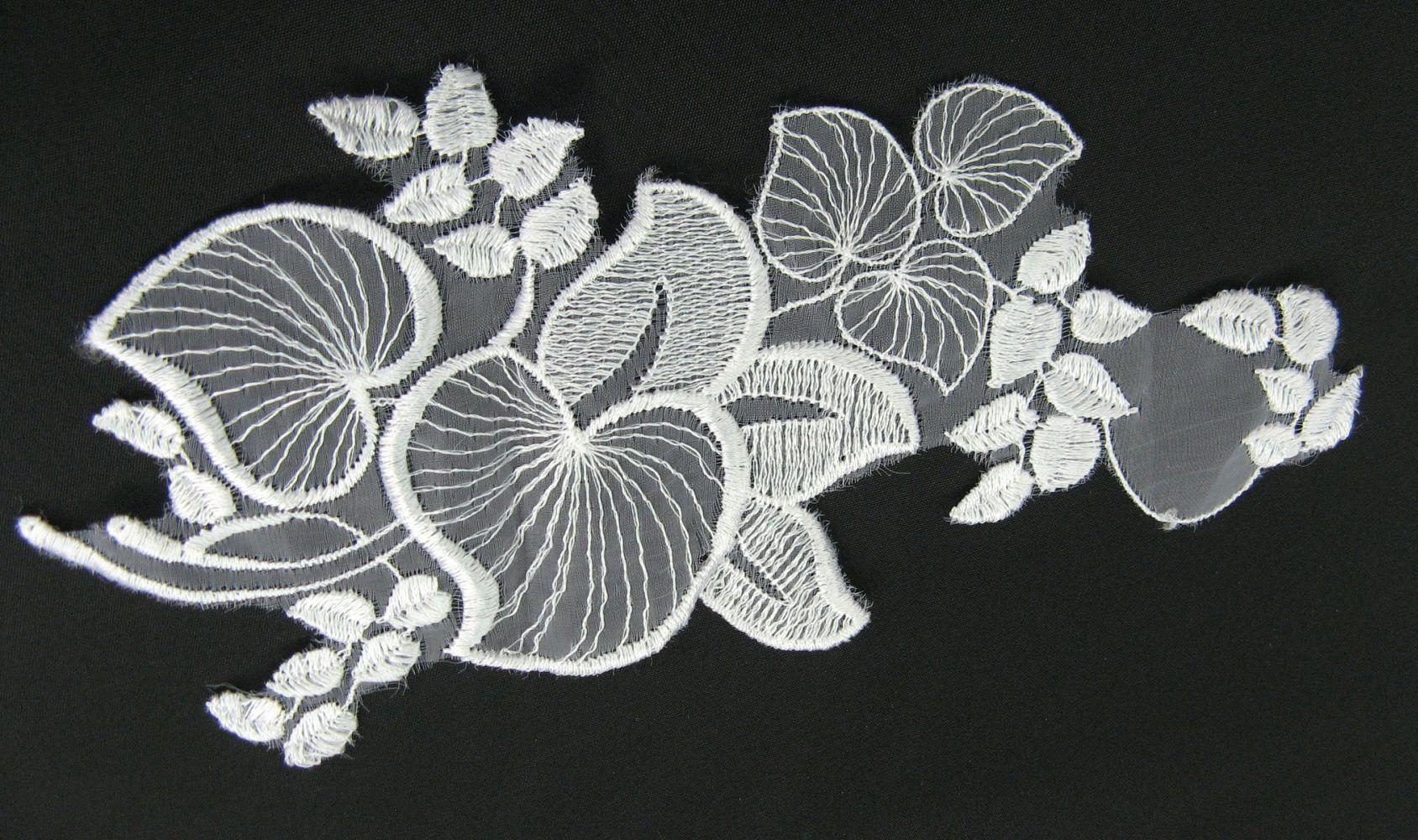Organza Stickerei 23x10 cm